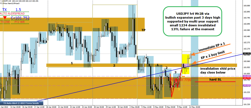 week20 USDJPY wr2b completion via 3 day bullish expansion 130514