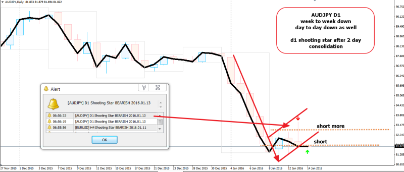 week2 AUDJPY D1 shooting star 140116